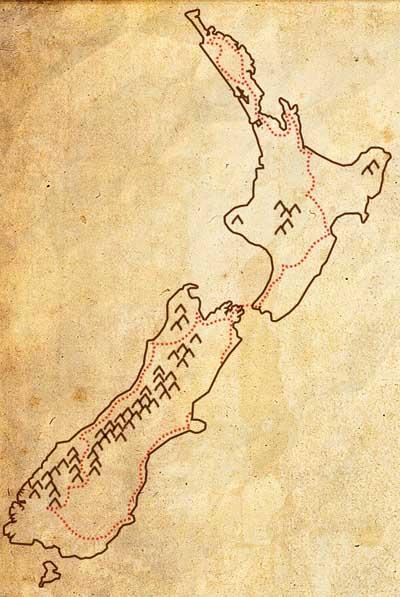 Michelinkaart van Nieuw Zeeland